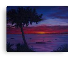 Sunset Over Cap Ferret Canvas Print