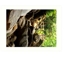 Natural Stone and Bridge Caves - NY  Art Print