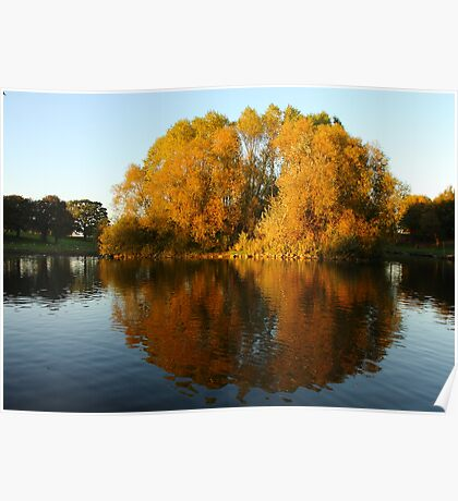 Autumn Colours on Reflection Poster