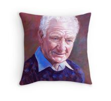 Portrait of Alan Bidstrup Throw Pillow