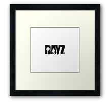 DayZ: Title - Black Ink Framed Print
