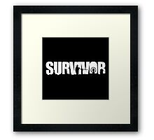 DayZ: Survivor - White Ink Framed Print