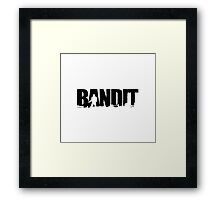DayZ: Bandit - Black Ink Framed Print