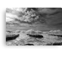 Crashing Waves at Natural Bridges State Park Canvas Print