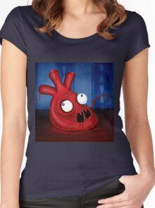 Blargh Heart Women's Fitted Scoop T-Shirt
