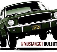 1968 Ford Mustang GT from Bullitt by car2oonz
