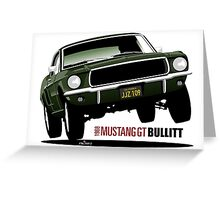 1968 Ford Mustang GT from Bullitt Greeting Card