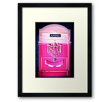 Angel1 Postbox Framed Print