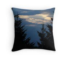 Autumn Blue Dawn Throw Pillow