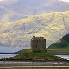 Scotland - Magic castle. by Jean-Luc Rollier