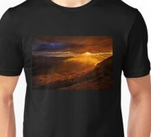Rain falling on the road to Delphi Unisex T-Shirt