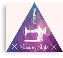 Sewing style retro Canvas Print