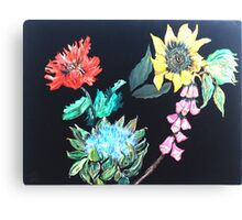 Coastal Floral Canvas Print