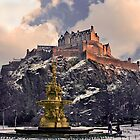 Edinburgh Castle  by IMAGES BY CADAC ON CANVAS