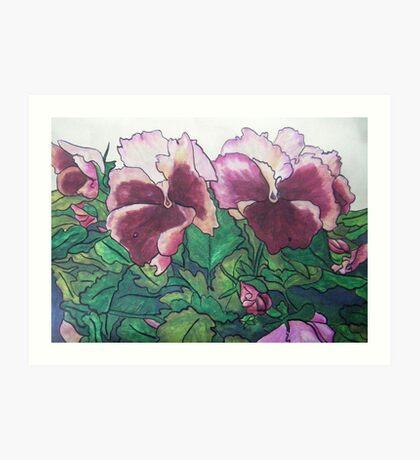 Pansies VII Art Print