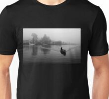 Crossing the misty lake Unisex T-Shirt