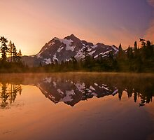 Early Morning At Picture Lake by Darren White  Photography