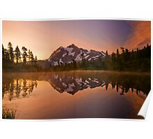 Early Morning At Picture Lake Poster