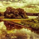 Waterway In Summertime by Mark Dobson