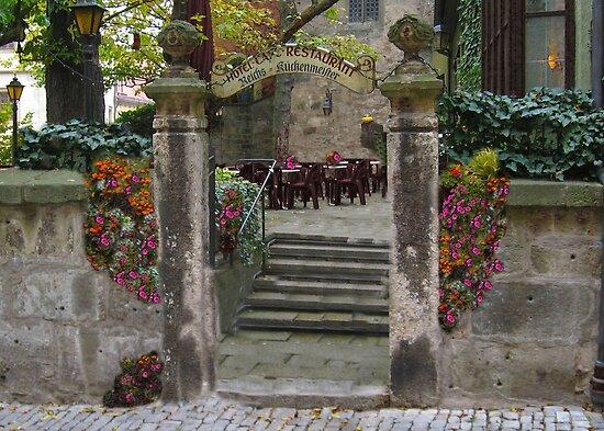Cafe in Rothenburg by Jeri Garner