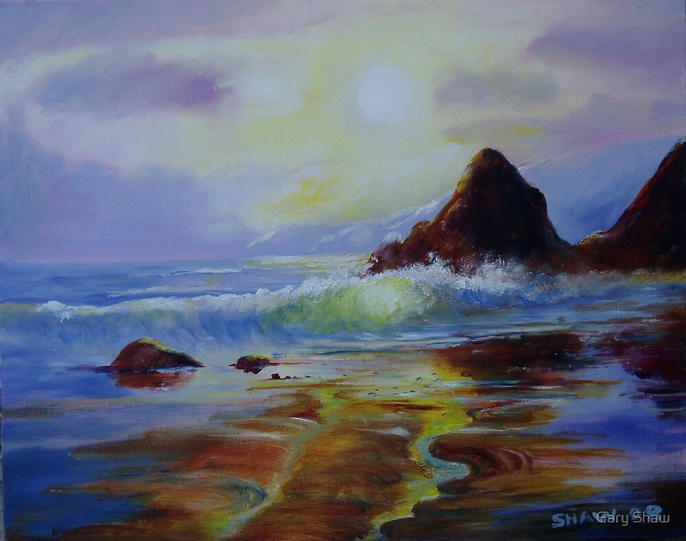 Study of light on beach by Gary Shaw