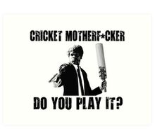 Rude Funny Cricket Shirt Art Print