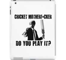 Rude Funny Cricket Shirt iPad Case/Skin