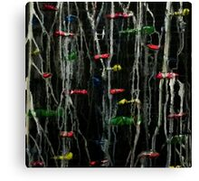 Ink and acrylic abstract painting Canvas Print