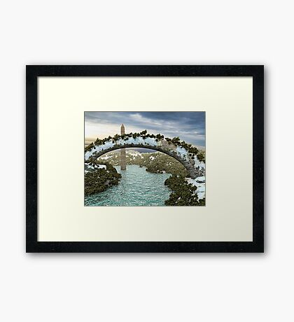 Monument Arch Framed Print