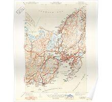 Massachusetts  USGS Historical Topo Map MA Gloucester 351724 1944 31680 Poster