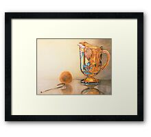 Mom's Ornage Juice Pitcher Framed Print
