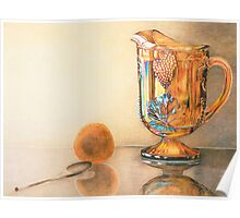 Mom's Ornage Juice Pitcher Poster