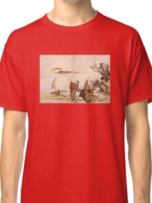 'Crazy Poetry' by Katsushika Hokusai (Reproduction) Classic T-Shirt