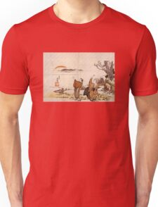 'Crazy Poetry' by Katsushika Hokusai (Reproduction) Unisex T-Shirt