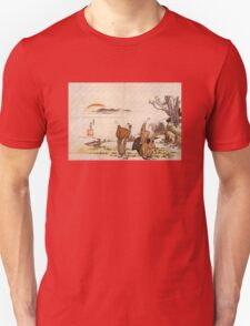 'Crazy Poetry' by Katsushika Hokusai (Reproduction) T-Shirt