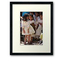Happy children Framed Print