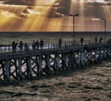 Sunset on the jetty Sticker