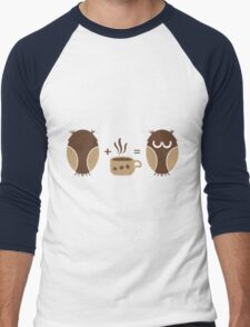 Morning coffee for owls fun creative original design Men's Baseball ¾ T-Shirt