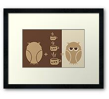 Morning coffee for owls fun creative original design Framed Print