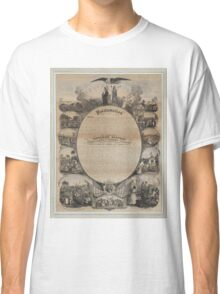Emancipation Proclamation with Narrative Pictorial by L. Lipman (1864) Classic T-Shirt