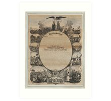 Emancipation Proclamation with Narrative Pictorial by L. Lipman (1864) Art Print