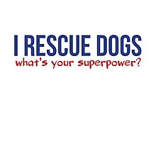 I rescue dogs what's your superpower  Photographic Print