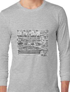 Cutty Sark Layout Plan. Long Sleeve T-Shirt