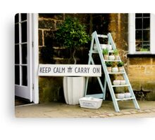 KEEP CALM Display Canvas Print