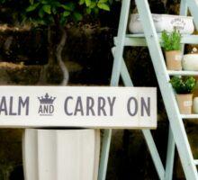 KEEP CALM Display Sticker