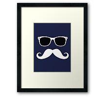 Geeky Mustache Framed Print