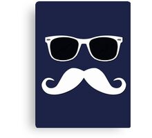Geeky Mustache Canvas Print