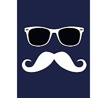 Geeky Mustache Photographic Print