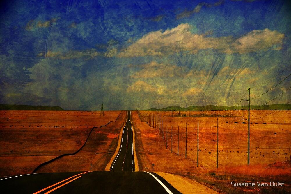 The long road to Santa Fe NM by Susanne Van Hulst