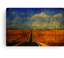 The long road to Santa Fe NM Canvas Print